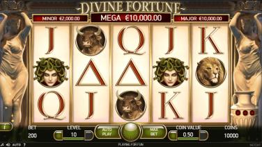 Divine Fortune Temă și Aspect