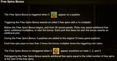 Pharaoh's Fortune Runde Bonus