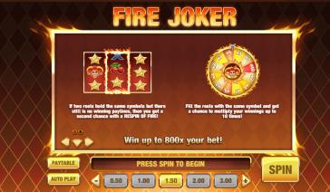 Fire Joker Runde Bonus