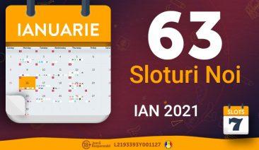 Sloturile lunii Ianuarie 2021