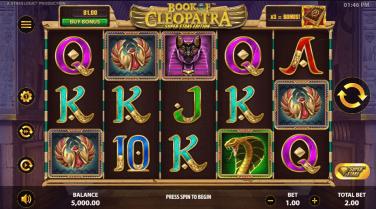 Book of Cleopatra Super Stake Temă și Aspect