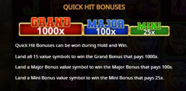 Buffalo Hold and Win Bonusuri Quick Hit
