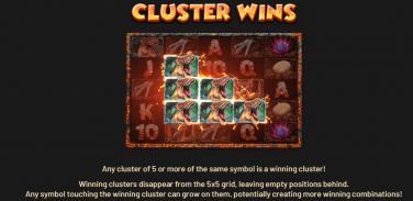 Lava Cluster Wins