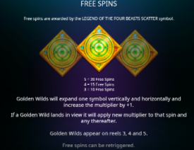Legend of the Four Beast Free Spinss Legend of the Four Beasts